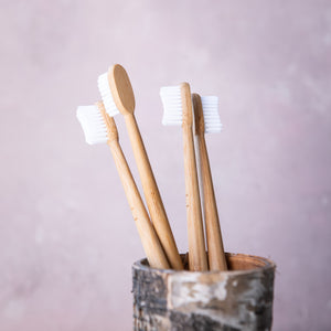 Bamboo Toothbrush (Cloud White) - Life Before Plastik
