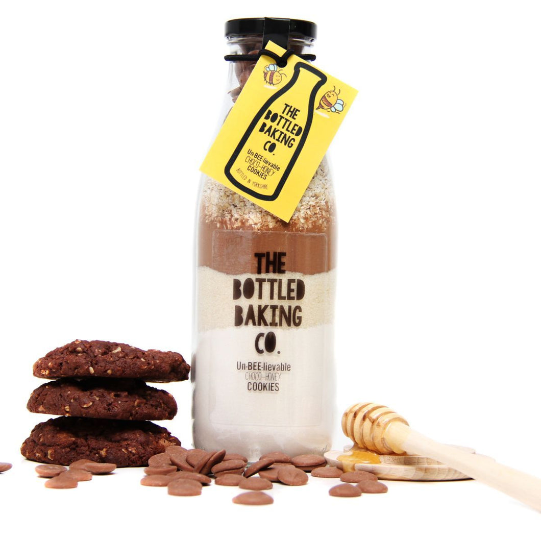 Bottled Baking Co Un-BEE-lievable Choco-Honey Cookie Mix - Life Before Plastik