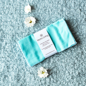 Vesta Living Reusable Cloth Wipes (Teal) - 6 Pack - Life Before Plastik