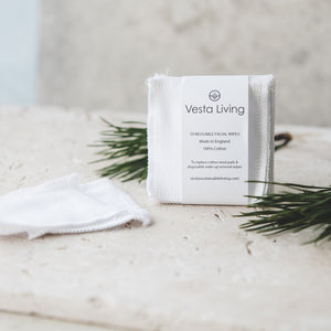 Vesta Living Facial Cotton Rounds (White) - 10 Pack