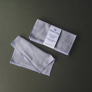 Reusable Cloth Wipes (Grey) - 6 Pack - Life Before Plastik