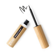 Load image into Gallery viewer, ZAO Makeup Felt Tip Eyeliner - Black