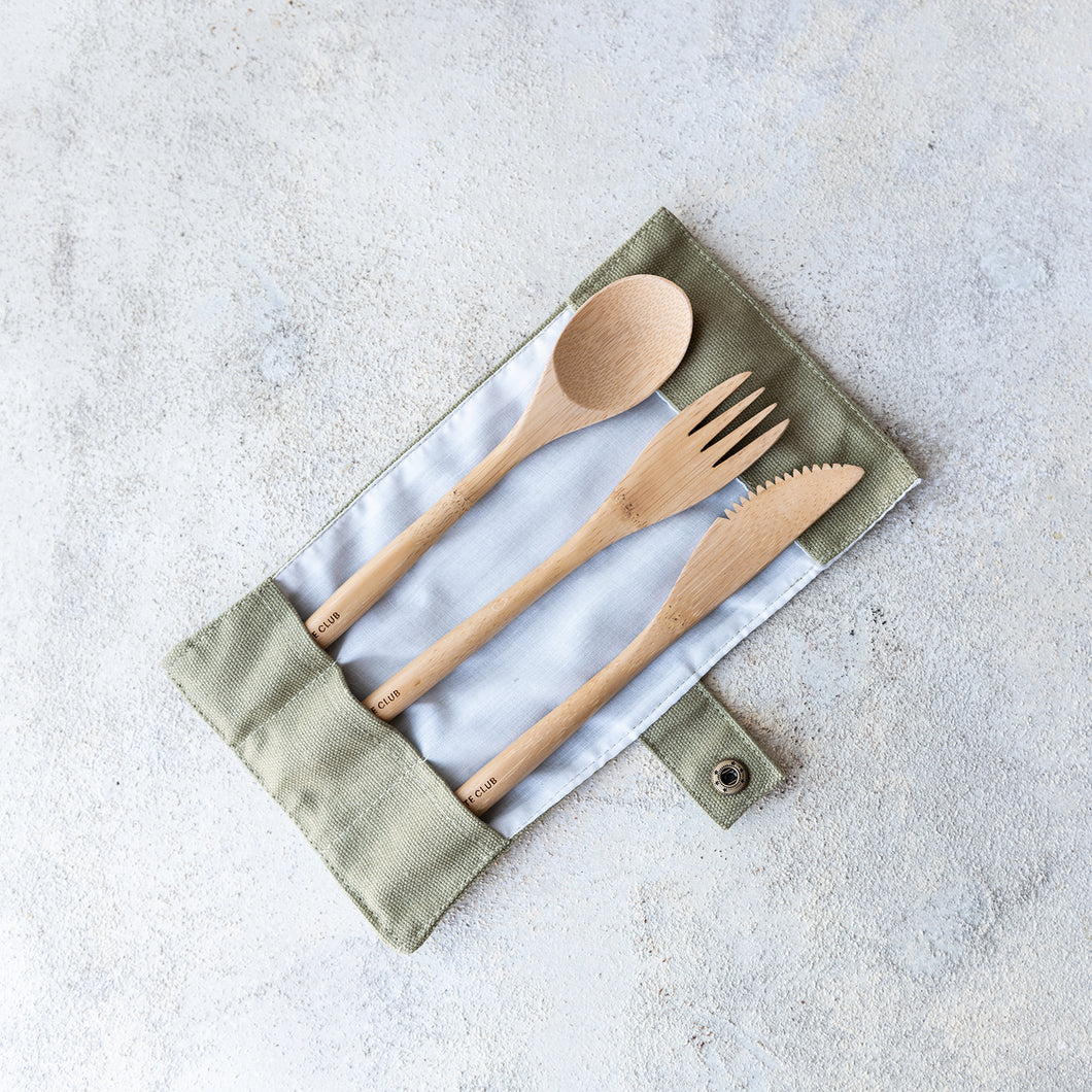 Bamboo Cutlery Set - Life Before Plastik