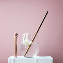Load image into Gallery viewer, Collapsible Straw - Rose Gold - Life Before Plastik