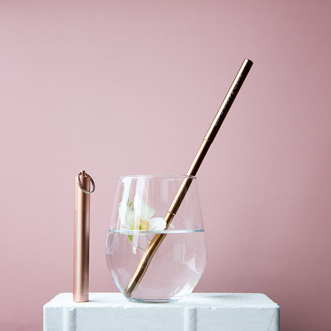 Collapsible Straw - Rose Gold - Life Before Plastik