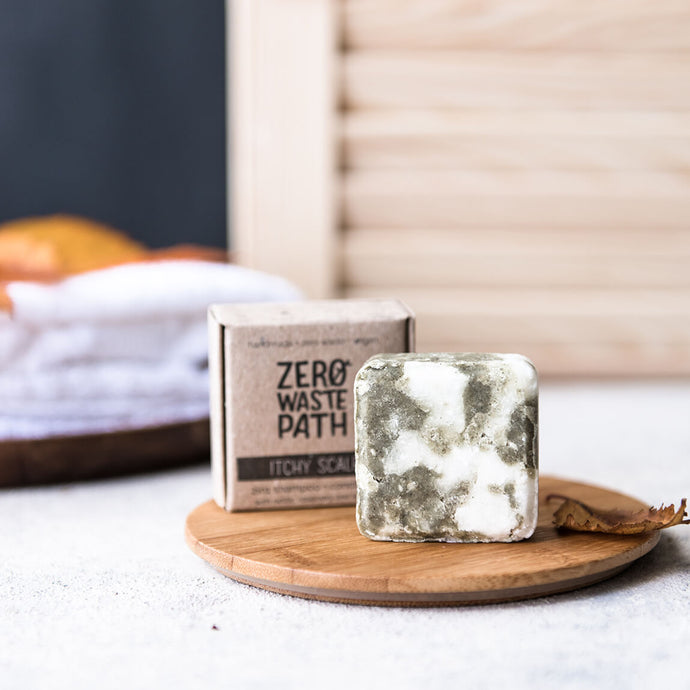 Zero Waste Path 2in1 Solid Shampoo Bar for Itchy Scalp - Life Before Plastik