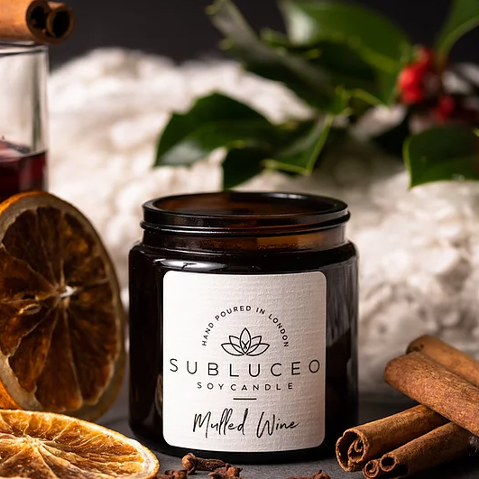 Subluceo Mulled Wine Soy Wax Candle - 20h - Life Before Plastik