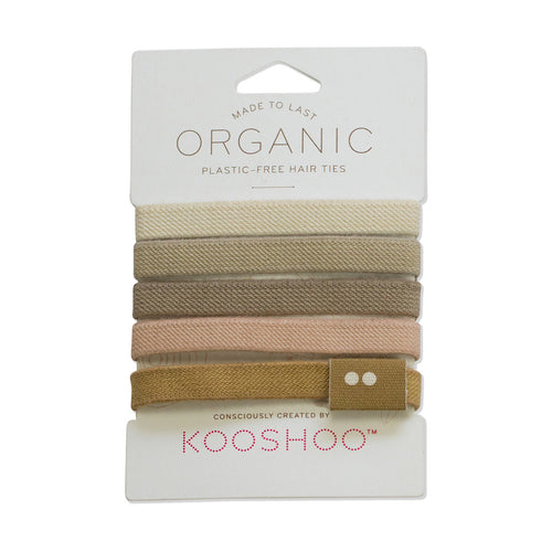 Kooshoo Plastic Free Hair Ties - Blonde