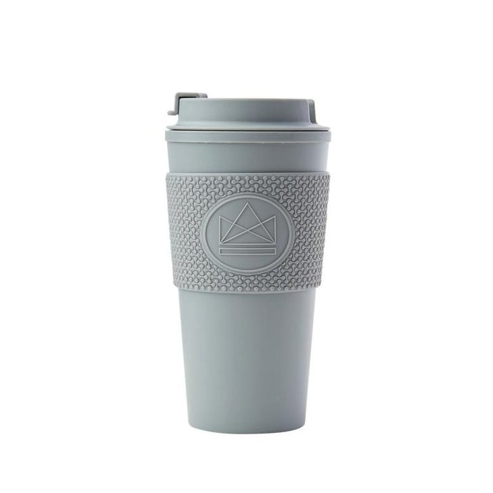 Neon Kactus Double Walled Coffee Cup - Grey - Life Before Plastik
