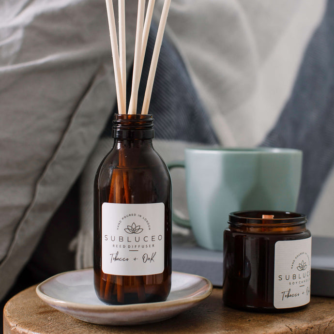 Sublueco Reed Diffuser - Tobacco & Oak - Life Before Plastik