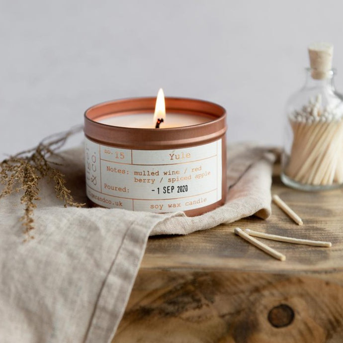 Tiger & Co Limited Edition: Yule Soy Wax Candle - 35h - Life Before Plastik