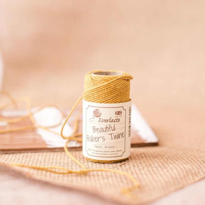 Eco Craft 20m Cotton Twine - Gold - Life Before Plastik