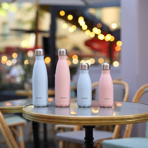 Mini Stainless Steel Water Bottle (260ml) - Pastel Blue - Life Before Plastik