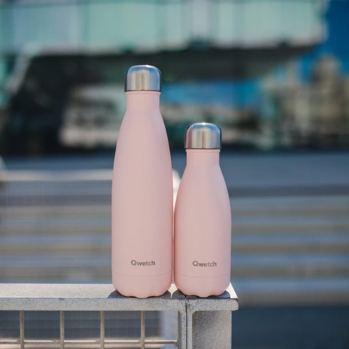 Mini Stainless Steel Water Bottle (260ml) - Pastel Pink - Life Before Plastik