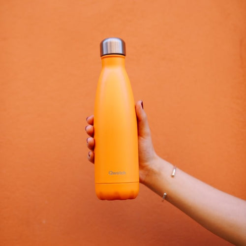 Qwetch Stainless Steel Water Bottle (500ml) - Pop Orange