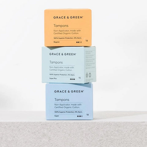 Grace & Green: Tampons Regular - Organic Cotton Period Products