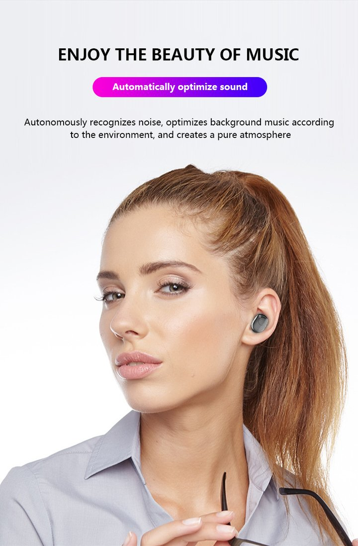 2019 New Waterproof Digital Display Wireless Bluetooth 5.0 Headset