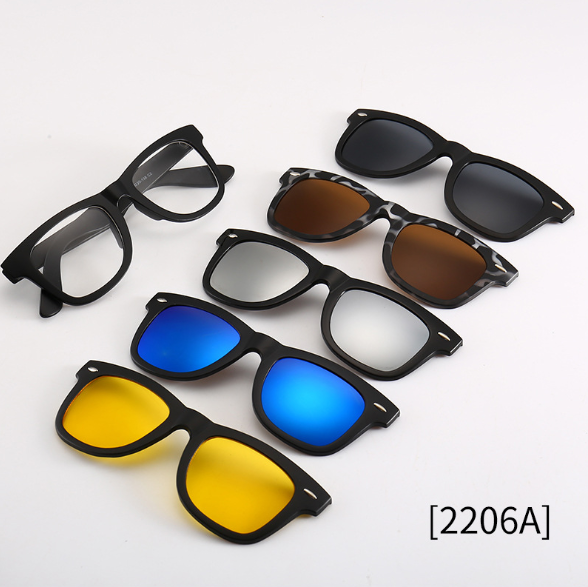 60% OFF 5 In 1 Men Women Polarized Magnetic Sunglasses
