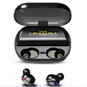 2019 Smart Touch Bluetooth 5.0 Wireless Binaural Earbuds With Battery Display Headset