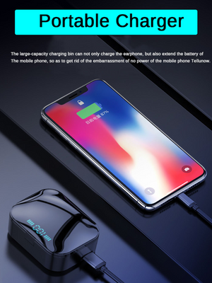 2019 TWS 5.0 Bluetooth Earphone IPX7 Wireless Headphone With LED Power Display