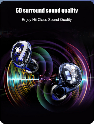【Black Friday】Unique Transparent Wireless Earbuds - HiFi Bass Active Noise Cancelling