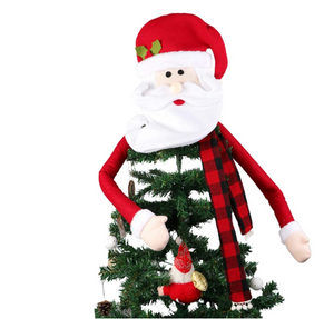 2019 New Christmas decorations Christmas tree top star Santa hat tree top decoration