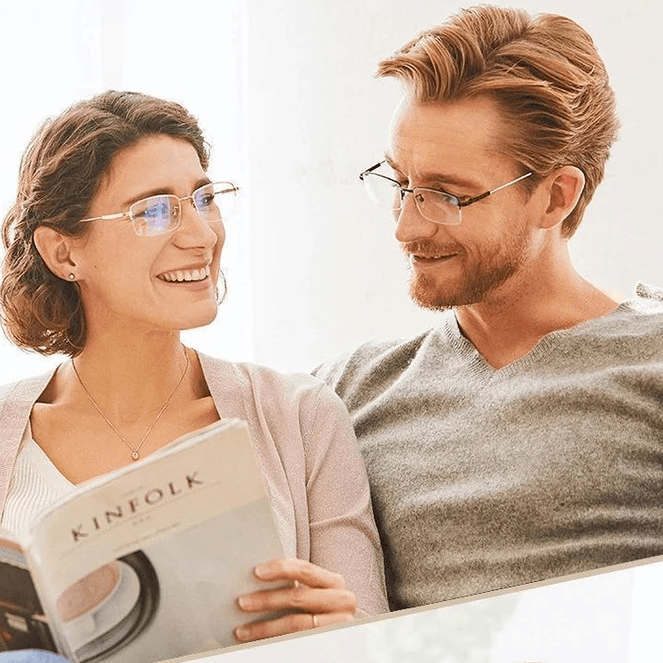 Titanium Progressive Far and Near Dual-use Reading Glasses