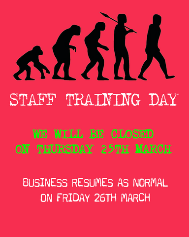 We will be closed on 25th March 2021