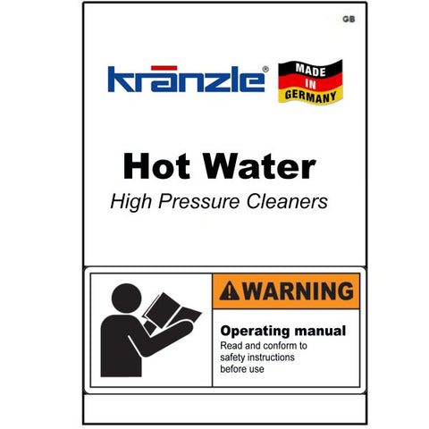 Hot Water Pressure Washer Operating Manuals & Diagrams