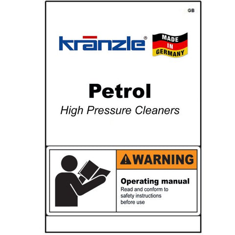 Petrol Pressure Washer Operating Manuals & Diagrams