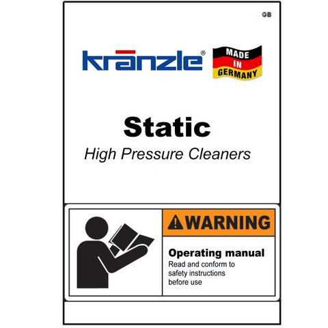 Static Pressure Washer Operating Manuals & Diagrams