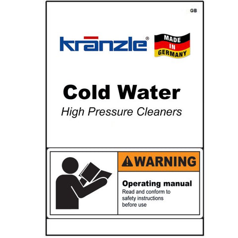 Cold Water Pressure Washer Operating Manuals & Diagrams