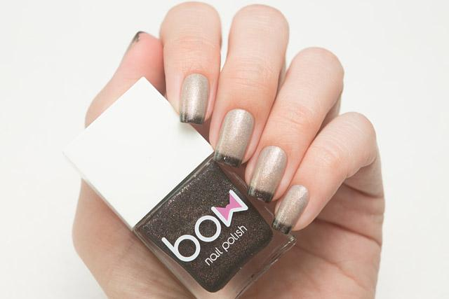 Lollipolish bow polish beige light grey black Temperature reactive thermal nail polish - Coma White
