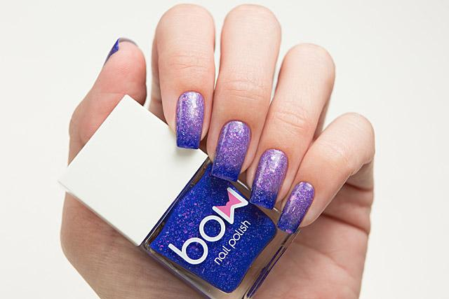 Lollipolish bow polish blue purple Temperature reactive thermal nail polish - Tides