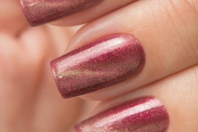 Lollipolish bow polish red magnetic nail polish - What I've Done