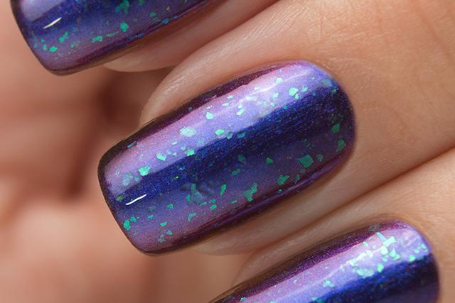 Lollipolish bow polish blue purple shimmer nail polish - Andromeda