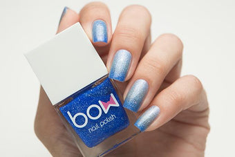 Lollipolish bow polish white sliver blue grey Temperature reactive thermal nail polish - Tears Don't Fall