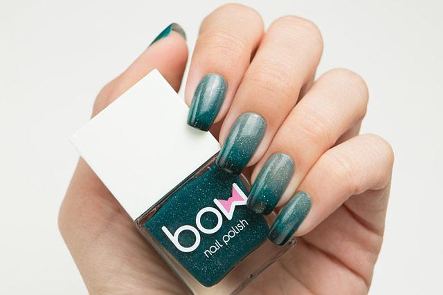 Lollipolish bow polish grey green blue black teal Temperature reactive thermal nail polish - Mutation