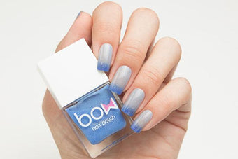 Lollipolish bow polish blue grey raspberry pink purple thermal Temperature reactive & UV responsive nail polish - Paradox