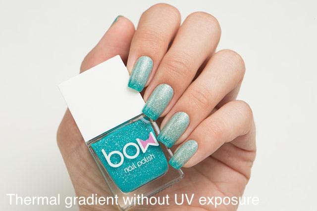 Lollipolish bow polish teal raspberry purple cyan Temperature reactive & UV responsive nail polish - Miracle