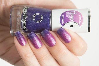 Lollipolish Dance Legend bow polish raspberry pink purple thermal nail polish-  Fly-by-night