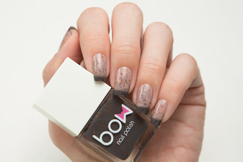 Lollipolish bow polish beige pink dark grey thermal nail polish - Shapes