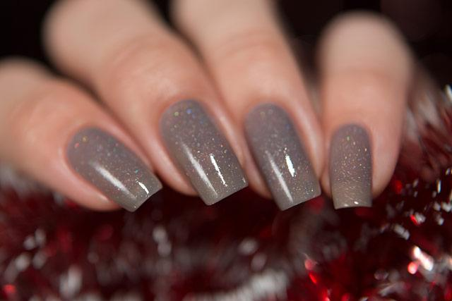 Lollipolish bow polish grey beige brown black Temperature reactive thermal nail polish - Mood Creator