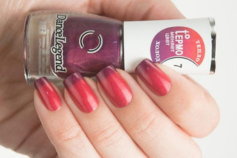 Lollipolish Dance Legend bow polish Pink Raspberry purple thermal nail polish- Neverwhere