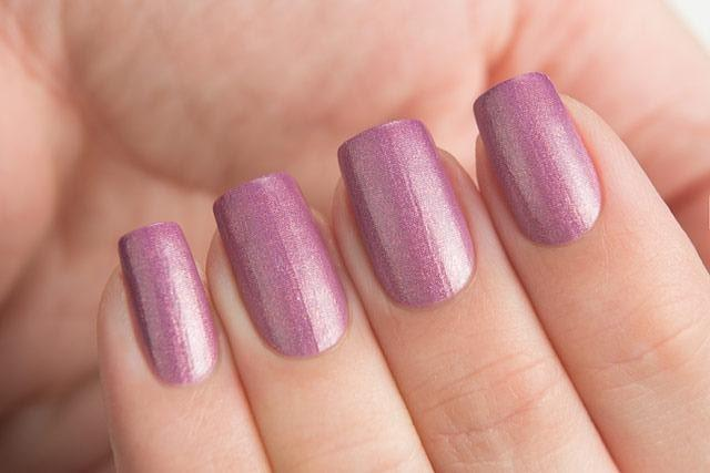 Lollipolish Dance Legend bow polish Beige Purple Pink thermal nail polish- Now You See It