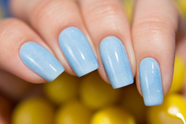 Lollipolish bow polish clear blue Temperature reactive thermal nail polish - Thermo Top Coat Blue