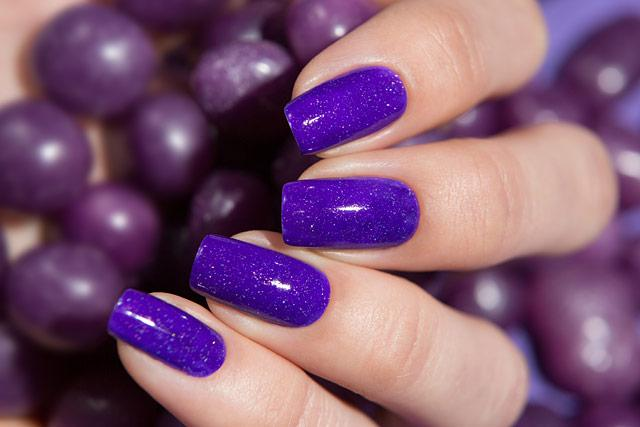 Lollipolish bow polish purple violet Temperature reactive thermal nail polish - Thermo Top Coat Violet