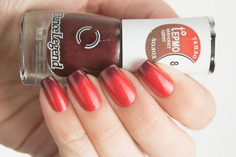 Lollipolish Dance Legend bow polish red brown purple thermal nail polish-  Unreality Show