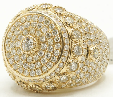 14k Diamond Pinky Ring