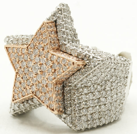 14k Double Star Ring 38.8 G